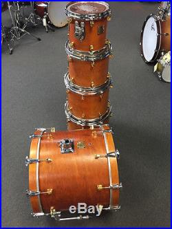 Yamaha Maple Custom Vintage Natural 5 Piece Drum Set Kit