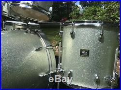 Yamaha Oak Custom Silver Sparkle Drum Set Japan