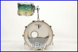 Yamaha PHX 3pc Shell Pack Drum Kit Set Turquoise Fade Bass Kick Floor Tom #38039