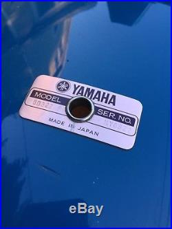 Yamaha Power/Turbo Tour Custom Drum set 8000 Series Birch Japan Cobalt Blue 80s