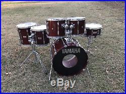 Yamaha Recording Custom 1980s MIJ Japan Drum Set Drums Kit Cherry Finish Birch