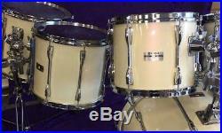 Yamaha Recording Custom Drum Set 1989 Stage White