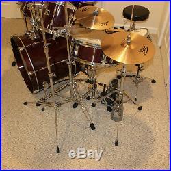 Yamaha Stage Custom 7 Drum Set, 5 cymbals