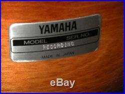 Yamaha recording custom tobacco burst drum set 20/12/13/14 mounted excellent