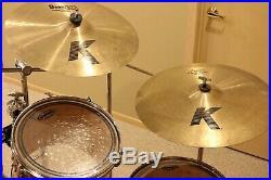 Yamaha stage custom 7 piece drum kit with 5 Zildjian K Dark Custom cymbal set