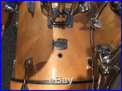 Yamaha stage custom natural birch 4 piece drum set 18x15 bass withpadded case