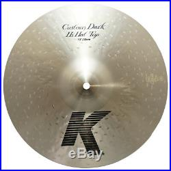 Zildjian K0941 13 K Custom Dark Hi Hat Top Drumset Bronze Cymbal Brand Used