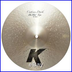 Zildjian K0944 14 K Custom Dark Hi Hat Top Drumset Bronze Cymbal Brand Used