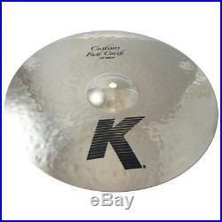 Zildjian K0980 14 K Custom Fast Crash Drumset Bronze Cymbal Blend Bal Used